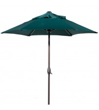 Abba Patio 7-1/2 ft. Round Outdoor Market Patio Umbrella with Tilt and Crank Lift, 100% Solution dyed Polyester, Green