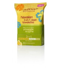 Alba Botanica Hawaiian 3-in-1 Clean Towelettes, 30 Count