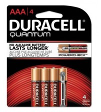 Duracell Quantum AAA Size Battery 4 Pack