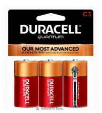 Duracell Quantum C Size Battery 3 Pack