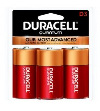 Duracell Quantum D Size Battery 3 Pack