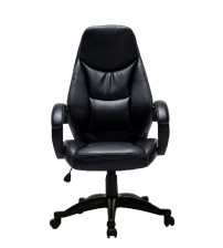 VIVA OFFICE Executive Chair, High Back Bonded Leather Chair, Swivel Chair with Padded Headrest and Armrests