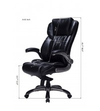 VIVA OFFICE High Back Bonded Leather Executive Chair with Adjustable Arms VIVA0468L-1A