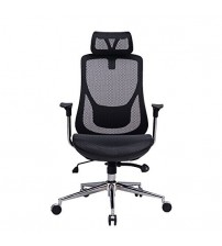 VIVA OFFICE High Back Mesh Chair, Executive& Managerial Chair with Adjustable Headrest,Upgraded Armrest and Great Lumbar Support