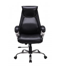 VIVA OFFICE Fashionable Designed High Back Chair, Bonded Leather Ergonomic Executive& Managerial Chair with Thick Padded Headrest and Armrest- Viva1248L