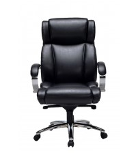 VIVA OFFICE High Quality Executive Chair, High Back Bonded Leather Office Chair with Padded Arms and Adjustable Tilt Tension