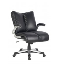 VIVA OFFICE Mid-back Bonded Leather Chair,Economic Office Chair Executive Chair with Thick Padded Backrest and Seat
