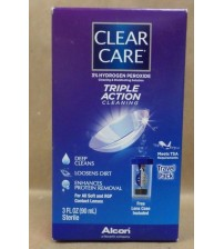 Alcon Clear Care Disinfecting Solution Triple Action 3 fl oz Sterile Exp 10/17 + OTC 578