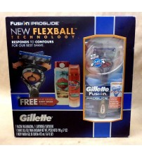 Gillette Fusion 3 Piece Set Flexball Razor and Hydra Gel and Old Spice Body Wash JCK 3768
