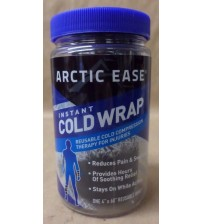 Arctic Ease Instant Cold Wrap Black 1 Wrap Reusable 4 To 8 Uses No Exp SEALED MEDS 1012