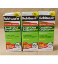 Adult Robitussin Maximum Strength Relief 4 fl oz Exp 03/18 + LOT OF 3 SEALED MEDS 1466