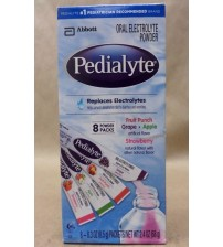 Abbott PEDIALYTE Electrolytes Replacement 8 0.3 oz Powder Packs Exp 11/17 + NEW RAW 1995