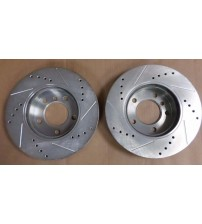 Power Stop Brake Rotor EBR419X Left and Right Cross Drilled Slotted Performance AUTO 76