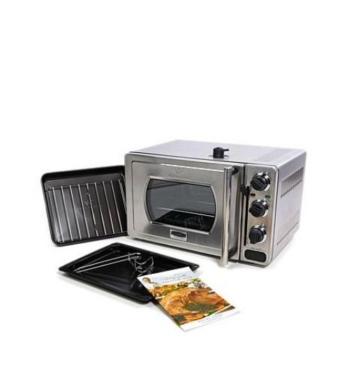 Wolfgang Puck 22L Pressure Oven With Broil Rack Insert And Baking Rack BEPO1002