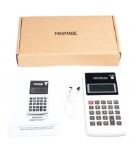 Maxmade External Battery and Portable Calculator 12000mAh White Brand New
