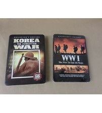 The War to End All Wars Korea The Forgotten War Collectible Tins Pack of 2 New GAME 24