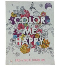 Color Me Happy Perforated Relaxing Coloring Book with Over 45 Stimulating Pages