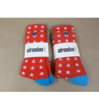 Adrenaline Lacrosse Socks One Size Fits Most In Red Stars Lot of 2 Brand New SGA 782