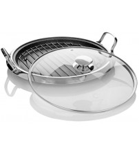 Curtis Stone 12-inch Multipurpose Pan with Rack and Lid Non Stick Dura Pan