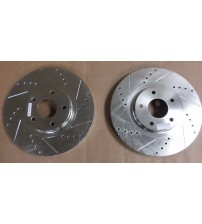 Power Stop Brake Rotor JBR1100X Left and Right Cross Drilled Slotted Performance AUTO 79
