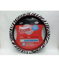 Bell Steering Wheal Cover Zebra Print with Pink Trim Hyperflex Core Brand New AUTO 90