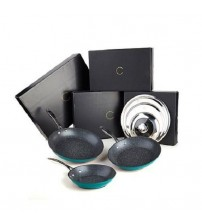 Curtis Stone Frypan Gift Set DuraPan Nonstick with Universal Lid Various Colors