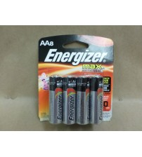 Energizer AA Alkaline Batteries 8 pk Max Power Seal Prevent Leaks Lot of 3 New