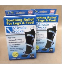 Ontel Miracle Socks Compression Anti Fatigue Black Size SM MD Lot of 2 Brand New