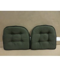 Klear Vu Tufted Twillo Gripper Chair Pad in Thyme With Liquid Repellent New COOK 946