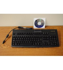 Cherry Keyboard with USB Interface and Smart Card Reader 18 inch Spanish New ELEC 442