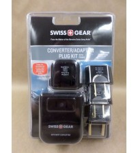 Swiss Gear Converter Adaptor Plug Kit with Pouch 6 pc Travelling Gear Brand New ELEC 659