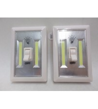 Diamond Visions Cob LED Night Light with Switch White Lot of 2 Brand New ELEC 671