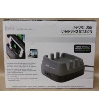 Charging Station With 3 USB Ports for Phone or Tablets by SoundLogic XT New
