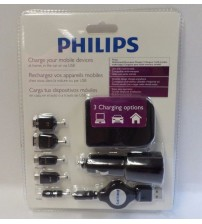 Philips Charger All Purpose Multi Brand Usage Home and Car USB Charge Brand New