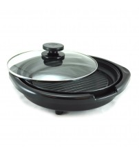 Cuisine Electric Grill with Lid 12 in Available in Assorted Colors