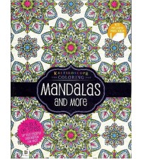 Kaleidoscope Coloring Mandalas and More Relaxing Adult Coloring Book with Perforated Pages