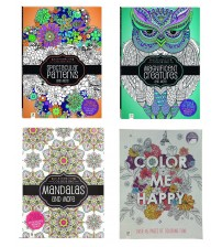 Relaxing Coloring Book Bundle Set of Four Adult Coloring Books- Spectacular, Magnificent, Mandalas and More