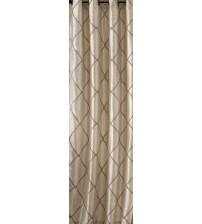 Bombay Garrison Window Curtain Panel 63 Inch Grommet Top Faux Silk In Ivory New HOME 1298