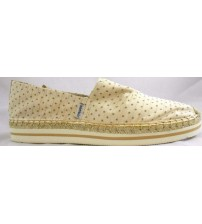 Joy And Mario Beige Polka Dot Slip On Loafers For Women Choose Size Brand New JSL 1674