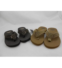 Quiksilver Sandals For Youth In Dark Brown And Tan Choose Your Size New