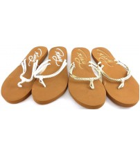 Roxy Girl Sandals In White Or Gold Choose Your Size Brand New With Tags