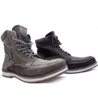 GBX Ecko Boots For Men In Grey And Black Choose Your Size Brand New In Box JSL 2002