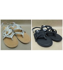 Not Rated Womens Bastin Nude or Black Canvas Thong Slingback Flip Flop New