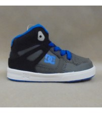 DC Rebound UL Toddler Size 5 Gray with Blue Accents High Top Skate Sneaker New JSL 3102