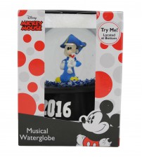 Disney Mickey Mouse Wind Up Musical Glass Waterglobe Graduation 2016 Brand New