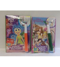 Dream Works Invisible Ink and Magic Pen Painting Princess Inside Out Lot of 2 KIDS 258