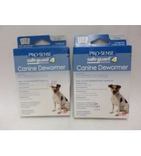 Pro Sense Safe Guard 4 Canine Dewormer 3 Pouches Lot of 2 Brand New EXP 12/17 +