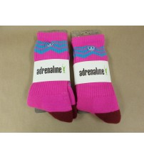 Adrenaline Lacrosse Socks One Size Fits Most In Pink Red and Blue Lot of 2 New SGA 756
