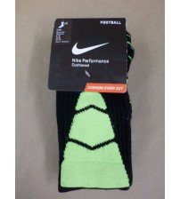 Nike Womens Performance Cushioned Football Socks Shoes Size 4 to 6 Green 2 Pairs