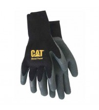 CAT Work Gloves String Knit Performance Latex Grip Large Snug Fit Black New WEAR 1000